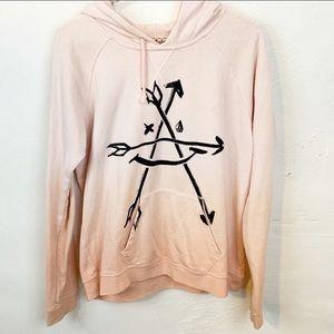 Volcom l Pink Ombré Graphic Hooded Sweatshirt